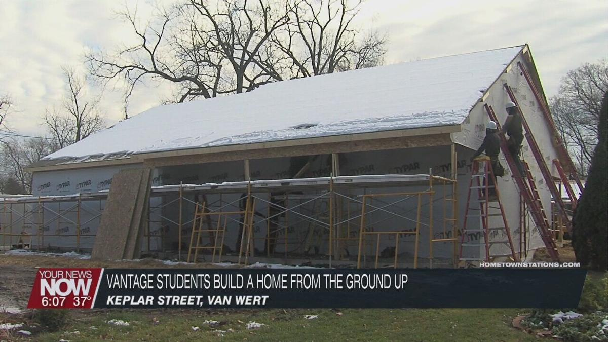 Vantage Career Center carpentry students build a home from the ground up