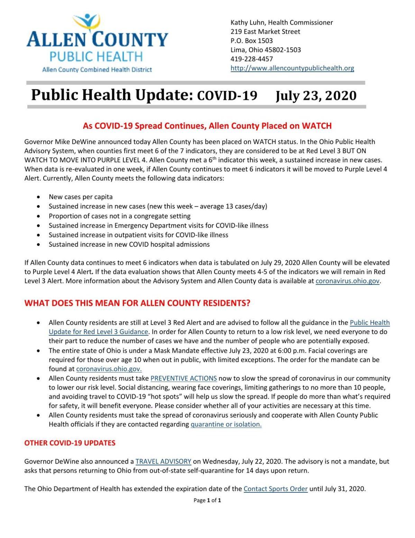 health department findlay ohio