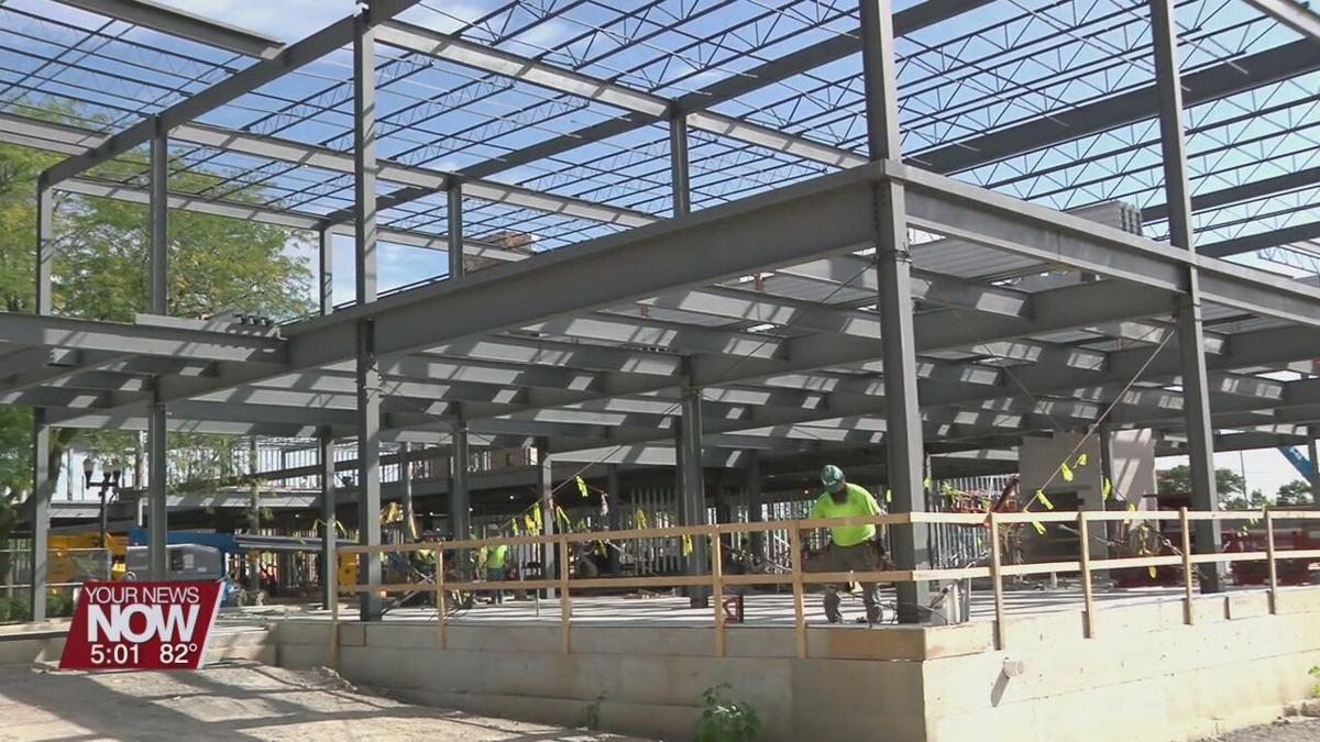 Rhodes State marks milestone in the construction of their downtown project