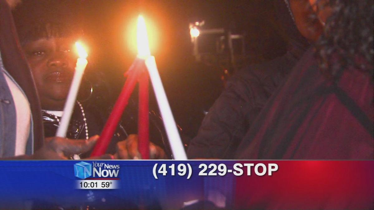 Family and friends hold a prayer vigil for Gregory Cooper