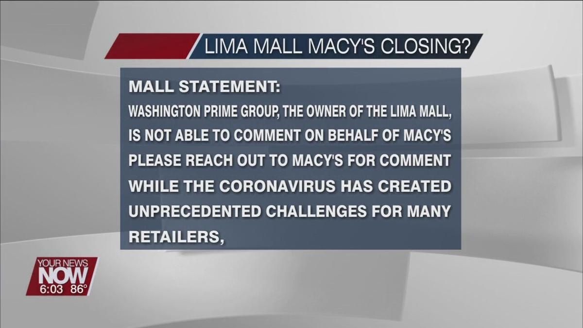 Future of Macy's in Lima Mall uncertain