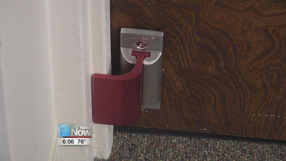 LCC installs new door barricade system in every office and
