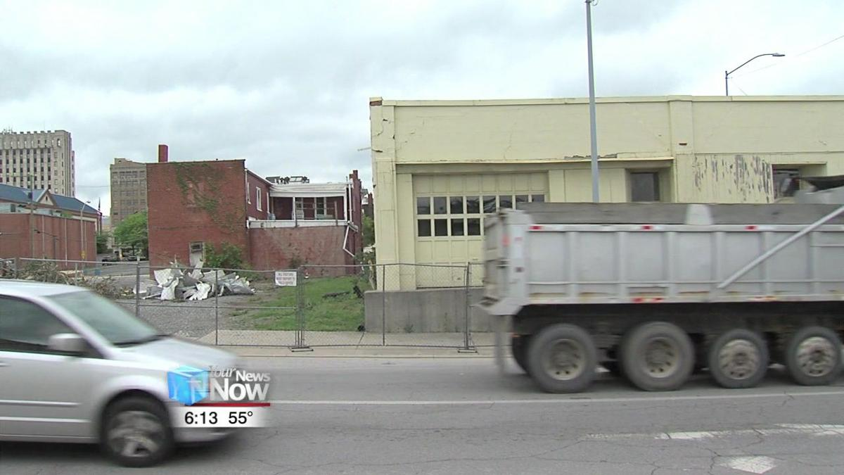 RTA begins demolition of vacant downtown buildings for parking lot project 2.jpg