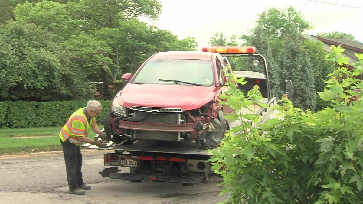 A man is hospitalized after crashing into pole in Delphos1.jpg