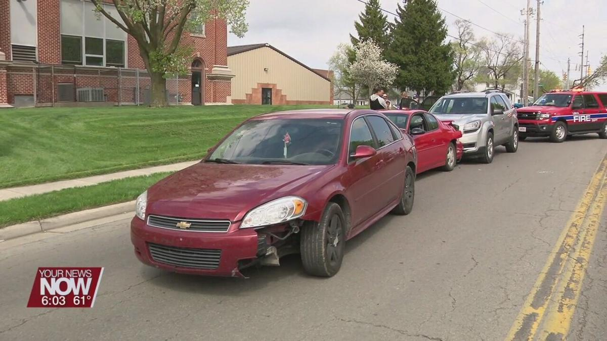 Three vehicle crash sends three people to the hospital