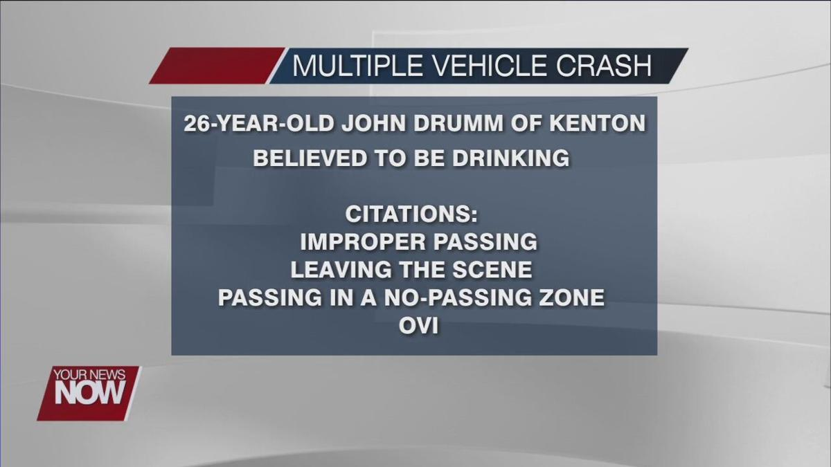 Kenton man causes multiple vehicle crashes, alcohol a factor