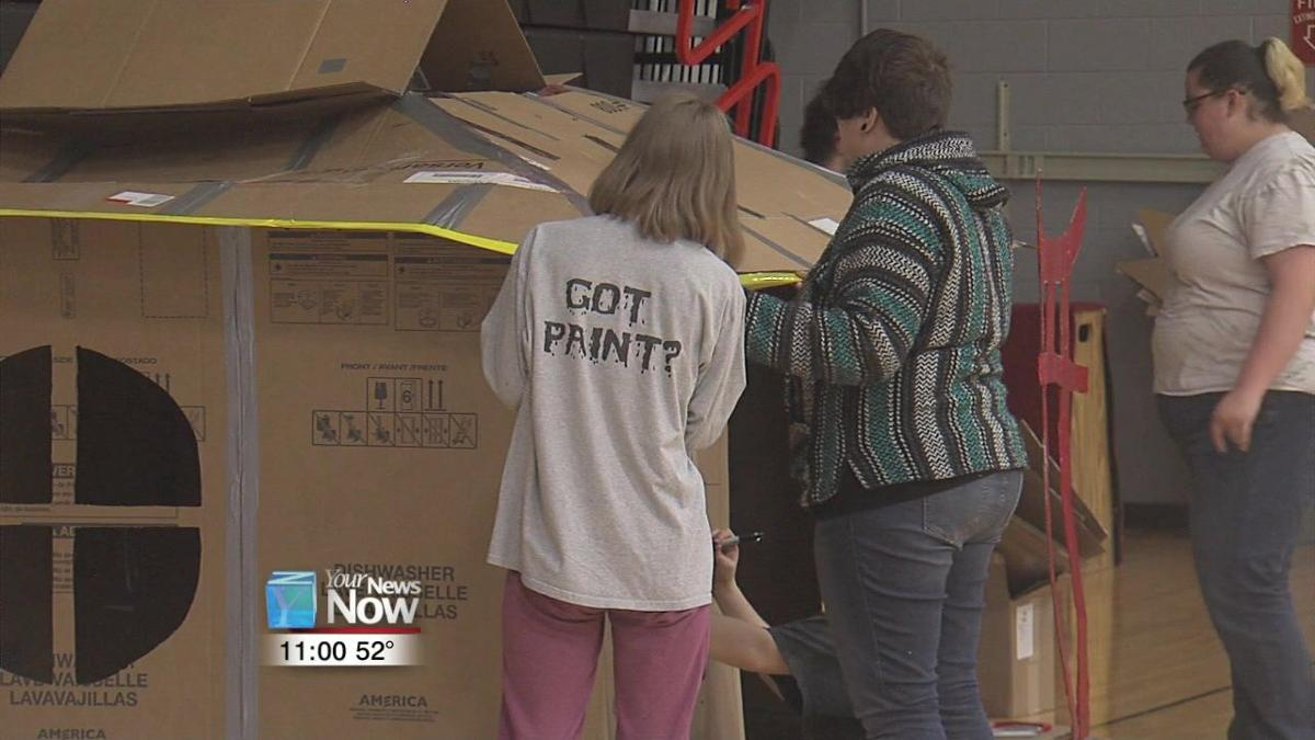 University of Findlay students build Box City to educate on homelessness1.jpg
