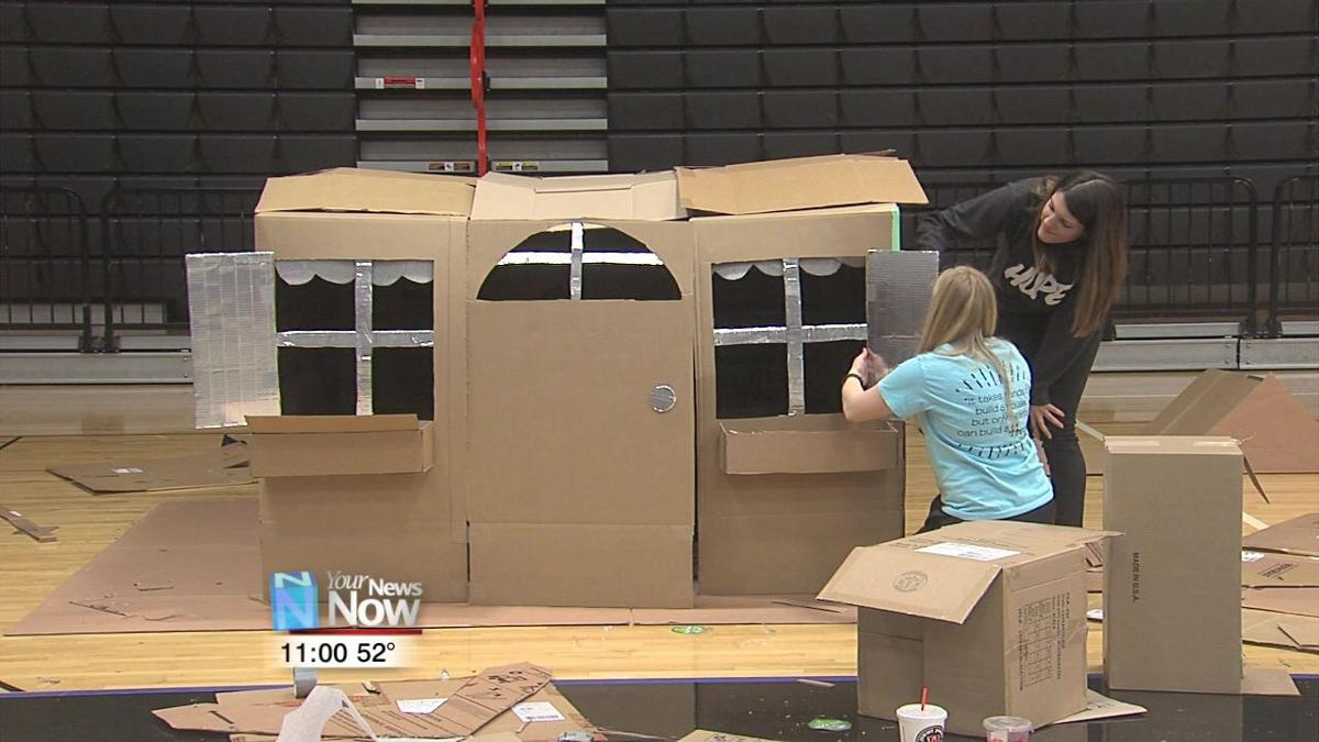 University of Findlay students build Box City to educate on homelessness.jpg