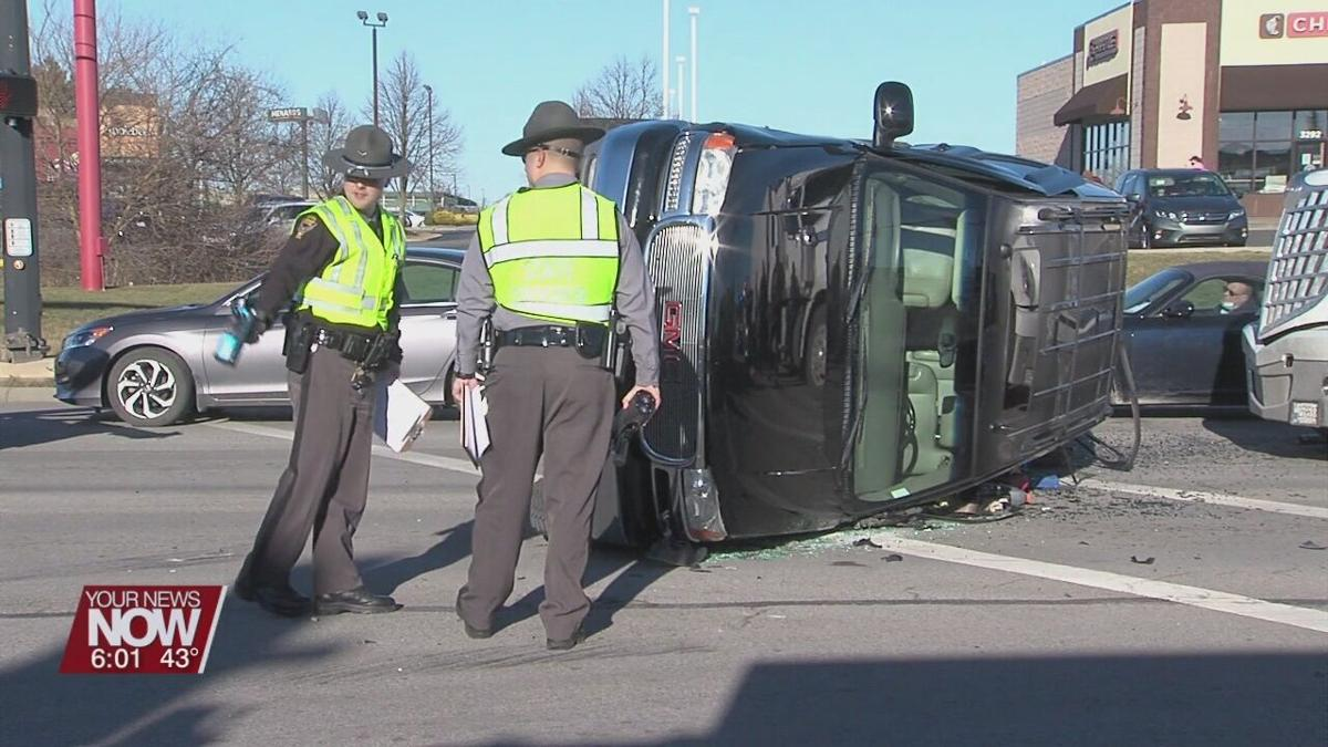 SUV flips in crash at intersection of Eastown and Elida