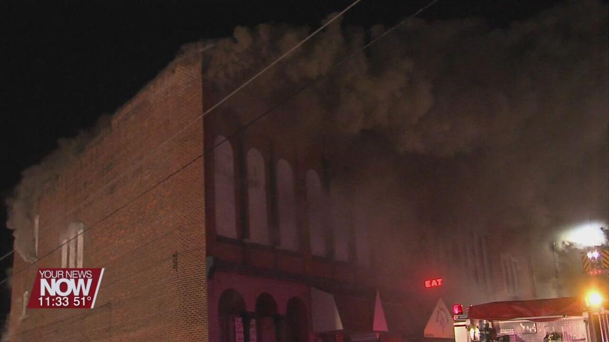 Downtown Business Fire in Columbus Grove