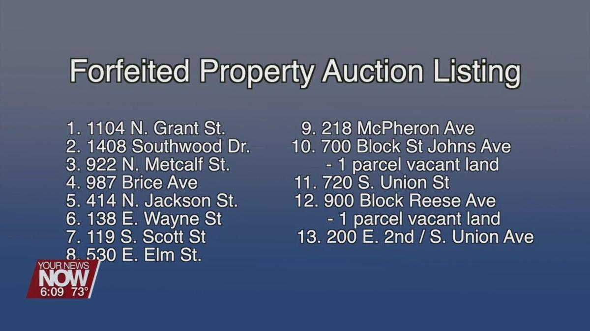 Allen County Auditor to hold forfeited property auction
