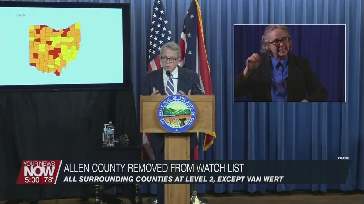 """Allen County removed from """"watch list,"""" DeWine asks for bar and restaurant restrictions"""