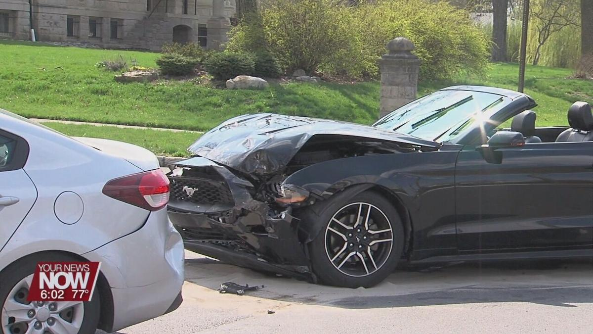 One person sent to hospital following crash