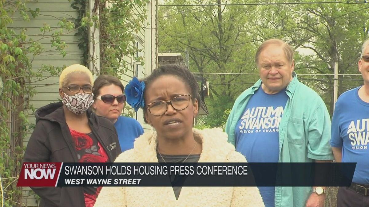 Autumn Swanson discusses housing at press conference