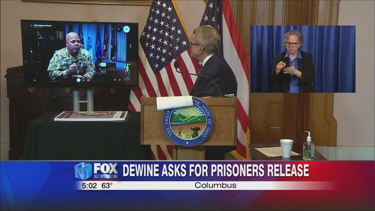 DeWine requests release of 38 prisoners, expands efforts in testing for COVID-19 in Ohio