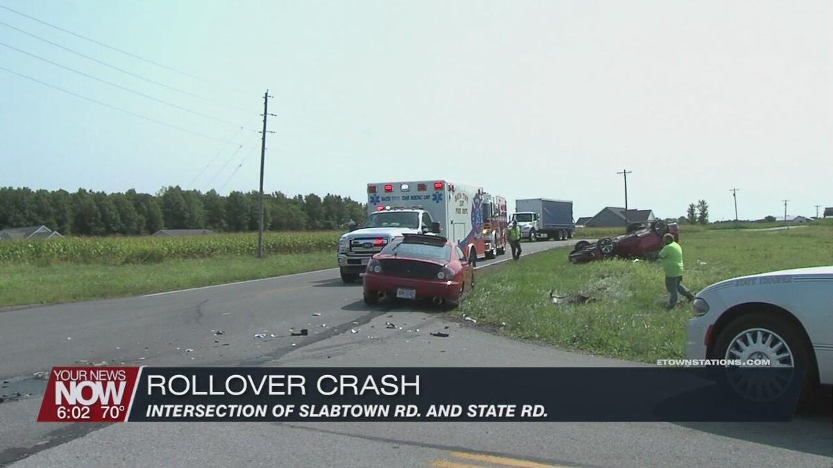 Person hospitalized after rollover crash