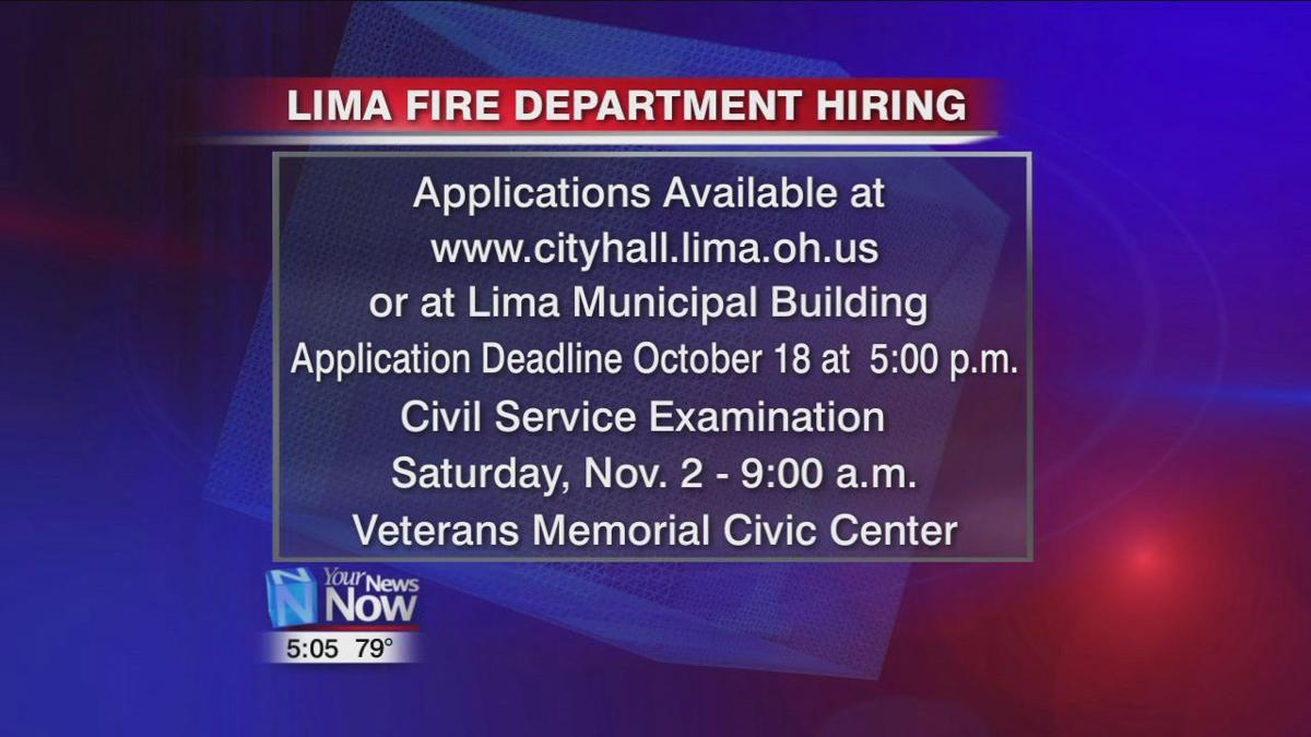 Lima Fire Department hiring new firefighters