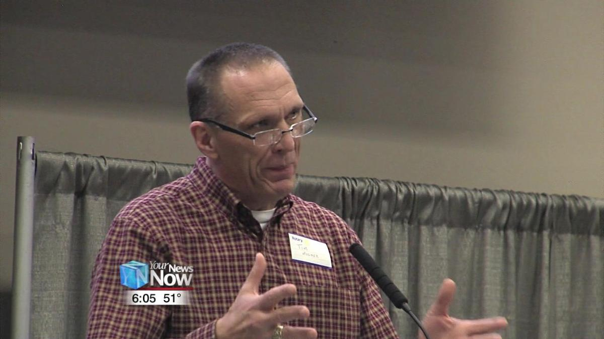 Tim Mosher talks to Lima Rotary Club about helping others through mission work 1.jpg