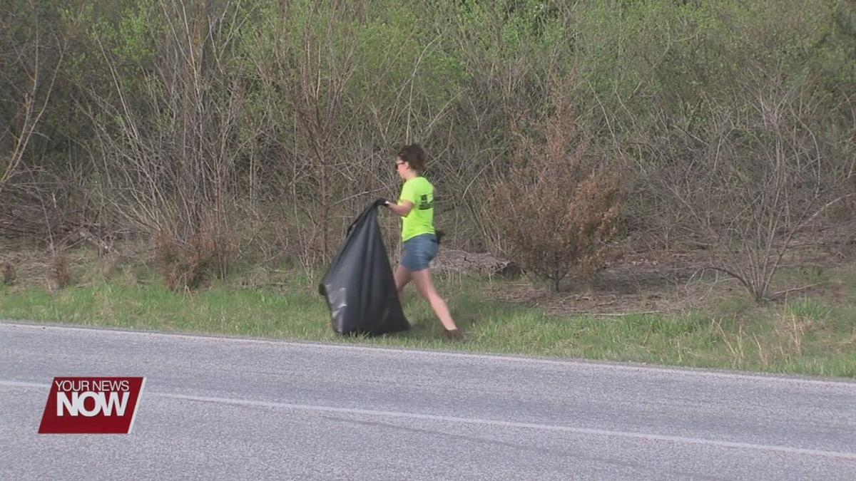 Allen Soil and Water Conservation District promoting trash pickup with their Adopt-a-Roadway program