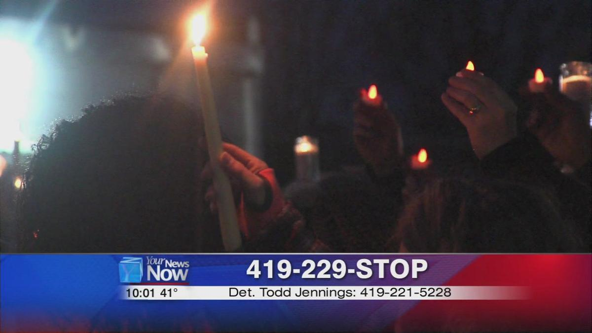 Family, friends, and community members hold candlelight vigil for Danielle Jackson