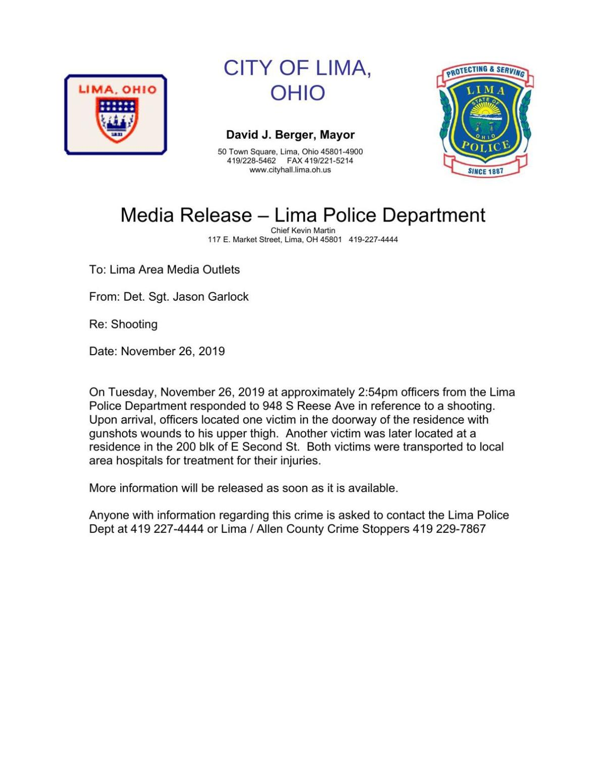 Lima Police Department investigates double shooting on Reese Ave.pdf