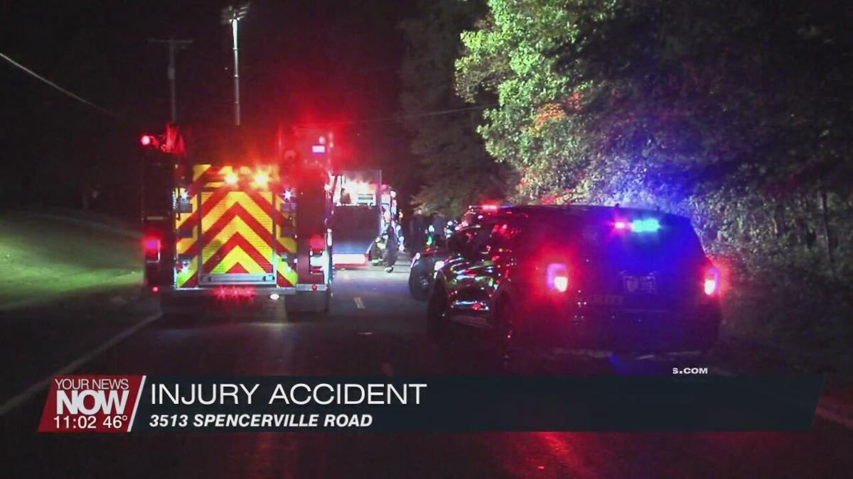 Injury accident on Spencerville Road