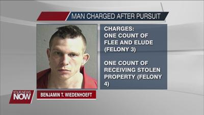 Charges filed against man who led authorities on pursuit in Allen and Auglaize counties