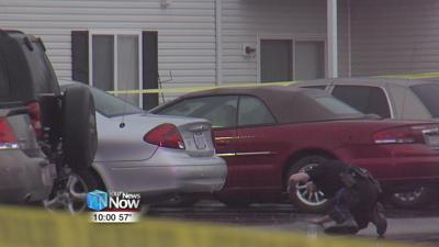 Police investigating a shooting at Willow Lakes Apartments 1.jpg