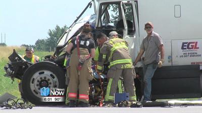 Two sent to hospital due to crash on U.S. 30 involving two semis 1.jpg