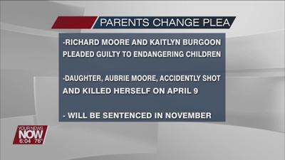 The parents of a young girl who accidently shot and killed herself plead guilty to charges