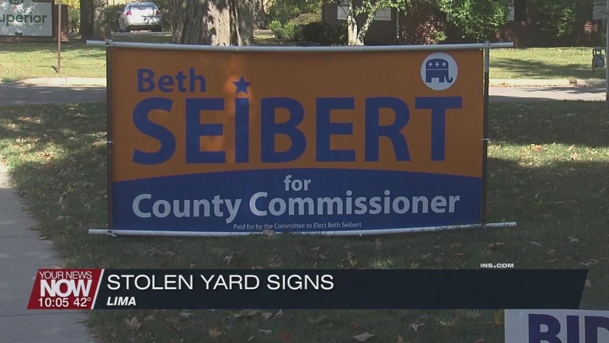 Political signs being stolen before upcoming election