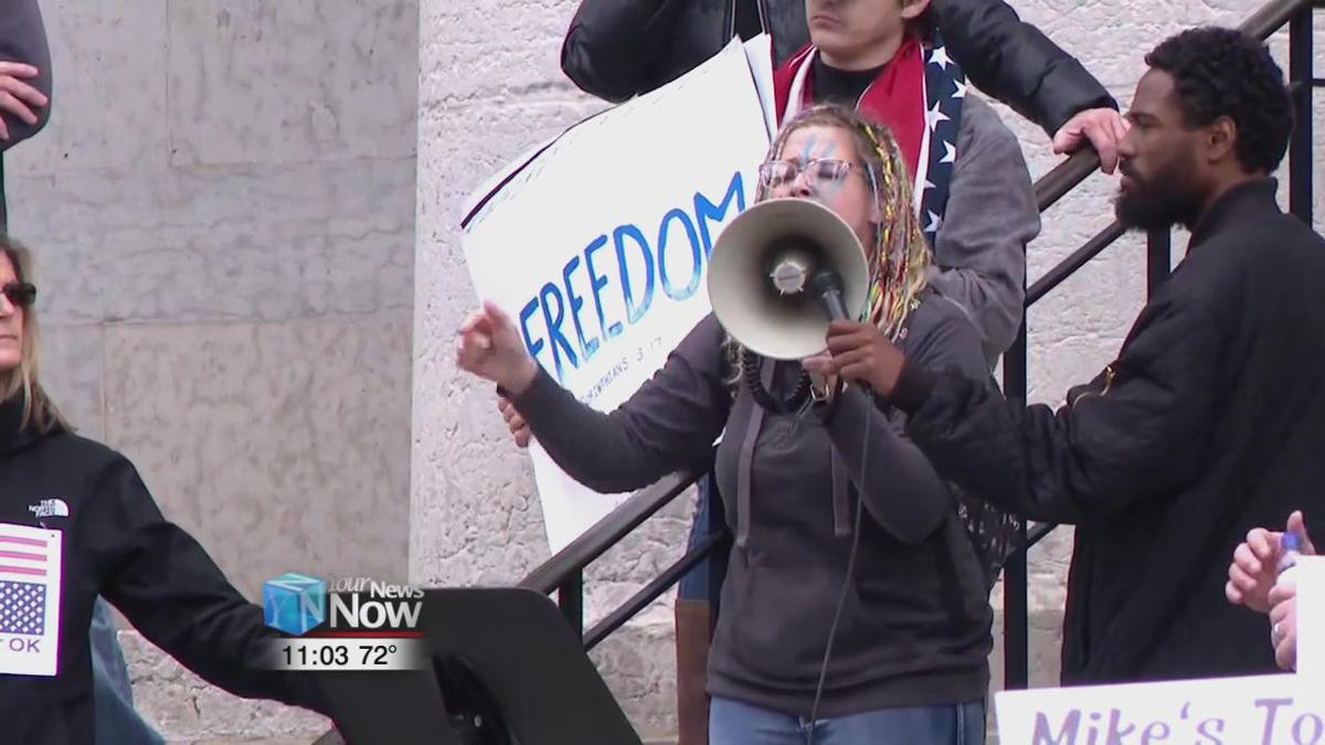 Law enforcement on alert after a window was opened at statehouse during Friday's protest