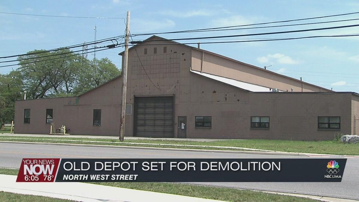 Plans moving forward by Allen County Commissioners to demolish old train depot at former ODOT property on North West Street