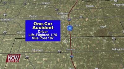 Two injured in single vehicle crash on I-75
