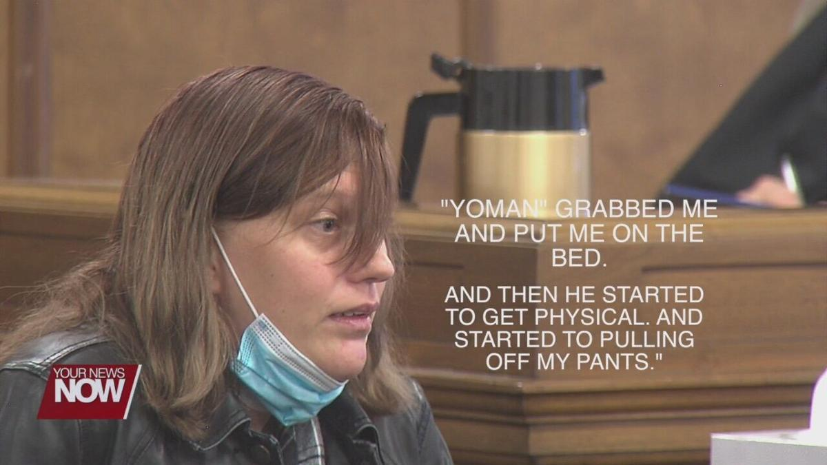 Alleged victim testifies in front of man she says raped her this summer