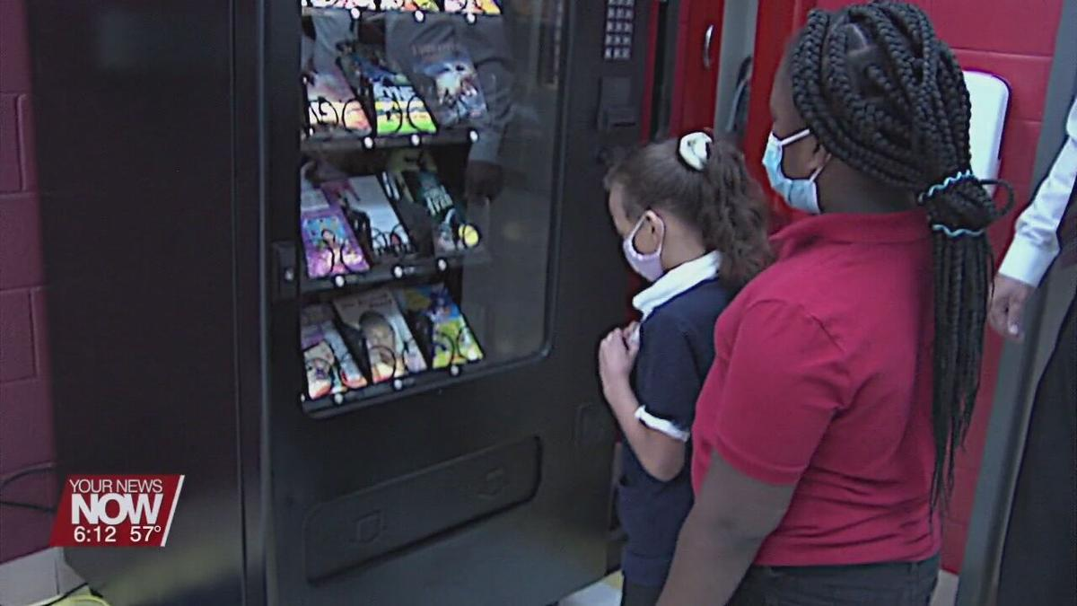 A vending machine takes on a new role at Lima's Heritage Elementary School