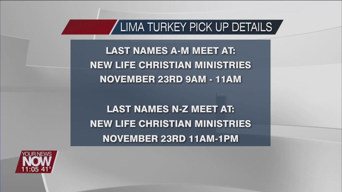 Turkey pickup times in Lima announced