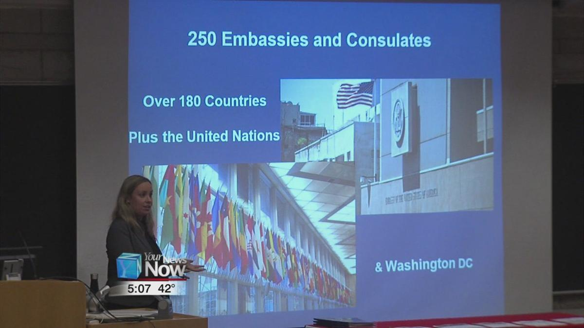 Ohio State students hear from a foreign service officer