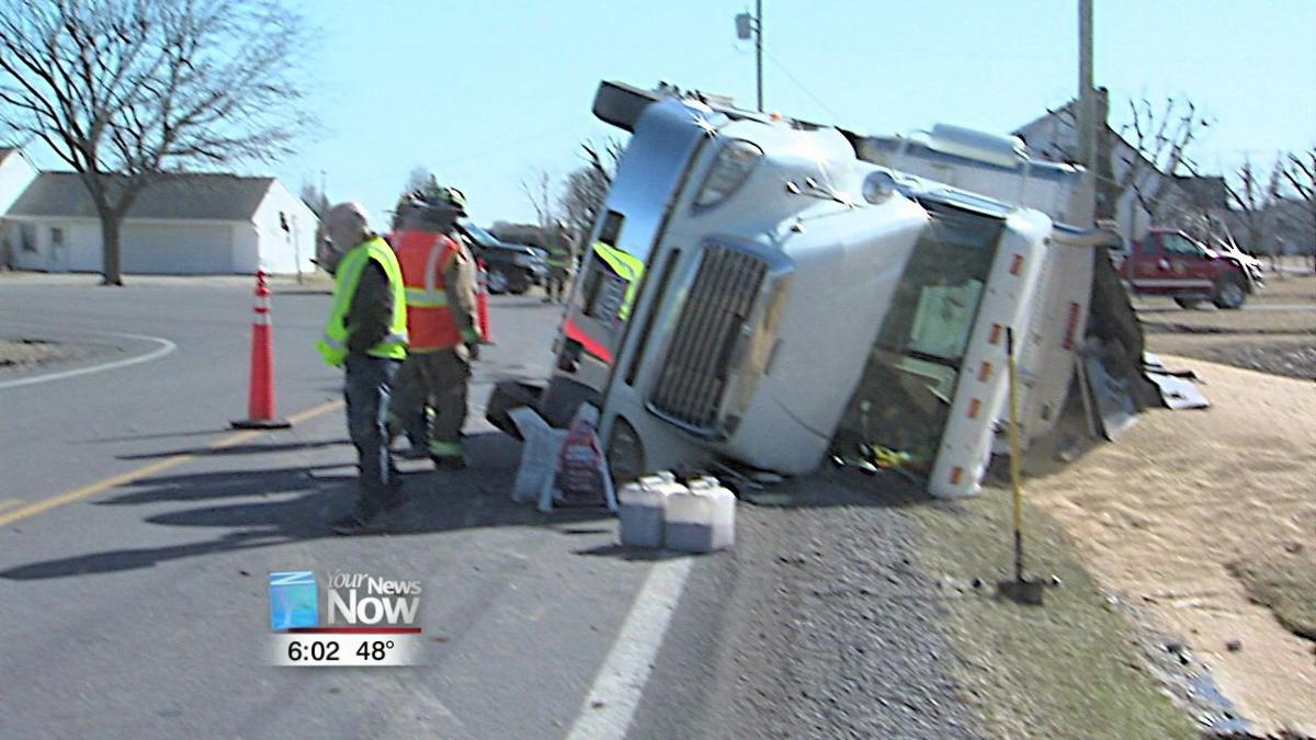 Semi-truck flips on State Route 66.jpg