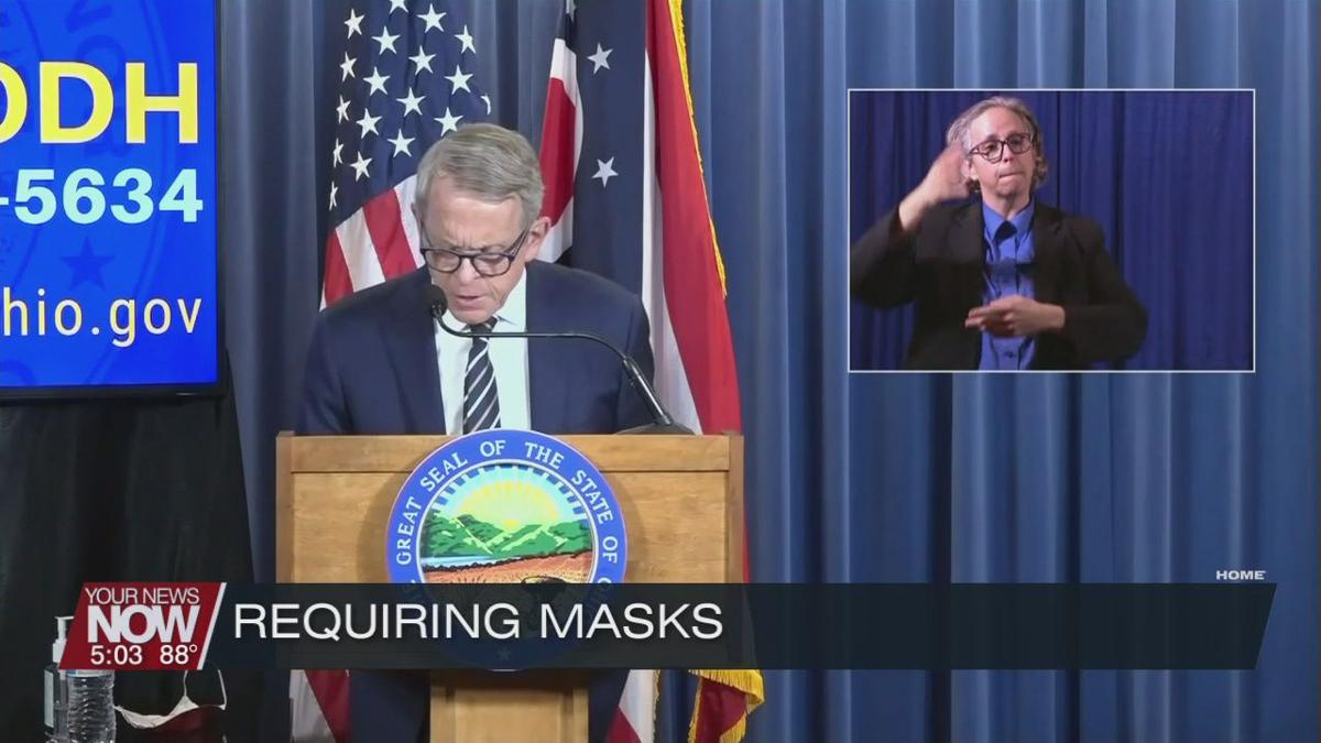Gov. DeWine: high COVID-spreading counties must wear masks in public