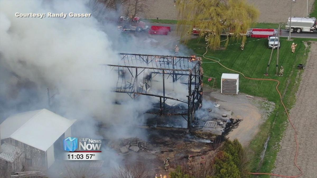 Multiple fire crews called out to large barn fire in Putnam County
