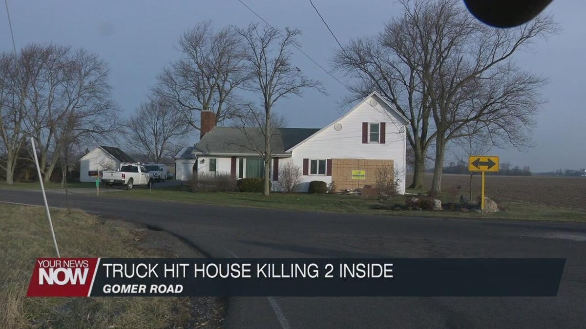 Two people killed when a driver of a pickup truck drove into their home