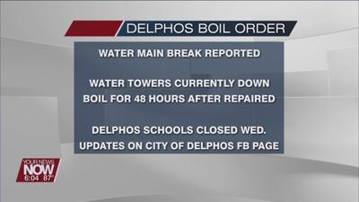 Boil water advisory for City of Delphos