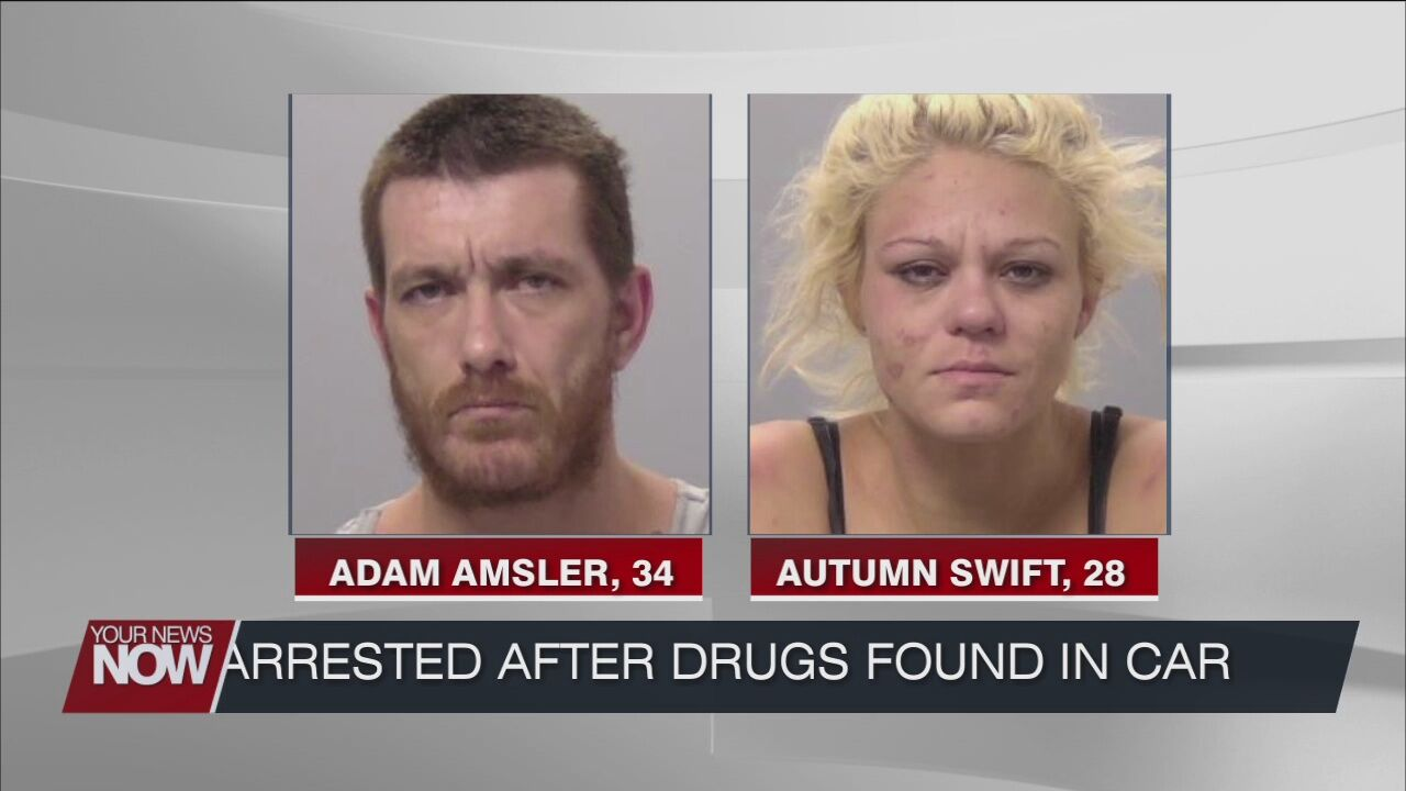 Two arrested after a traffic stop and drugs were found in the car
