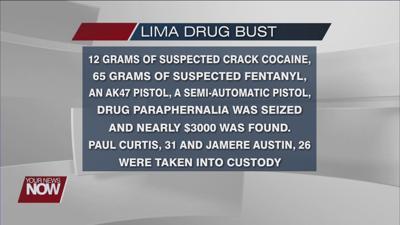 Two Lima residents under arrest after drug bust