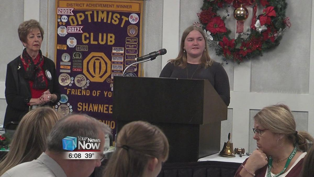 Students honored By Shawnee Optimist Club