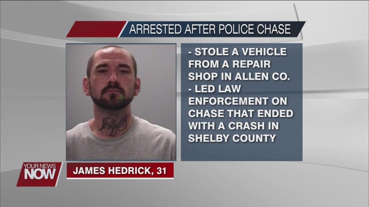 Alleged car thief leads law enforcement on a chase that ended in a crash