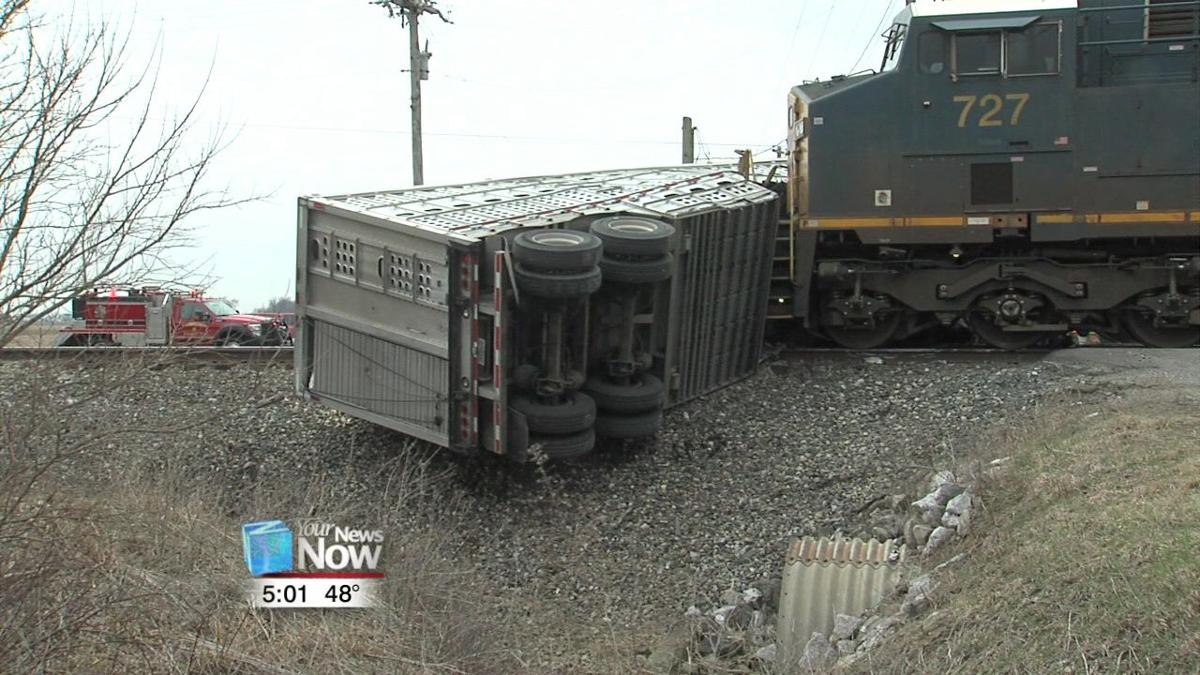 Semi hauling livestock gets stuck on tracks and hit by train 1.jpg