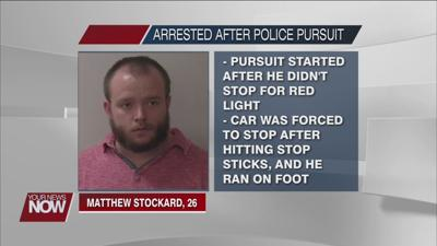 Findlay man leads law enforcement on low speed pursuit