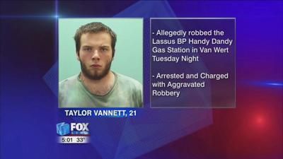 Van Wert man arrested for gas station robbery